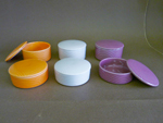 TRINKET BOX - PORCELAIN - FT,ORANGE,PINK,LAVENDER