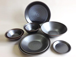 KURO SHINJU - porcelainware (*Recycled Clay)