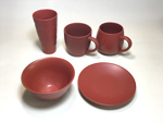 PAUSA RED- porcelainware (*Recycled Clay)